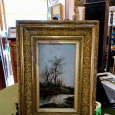 Arte: OLEO SOBRE TABLA PAISAJE , HACIA 1890. Lote 260668450