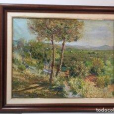 Arte: ÓLEO SOBRE LIENZO - HUERTA VALENCIANA - TRULLS PONS 1940 -NECESITA RESTAURACIÓN. Lote 260685955