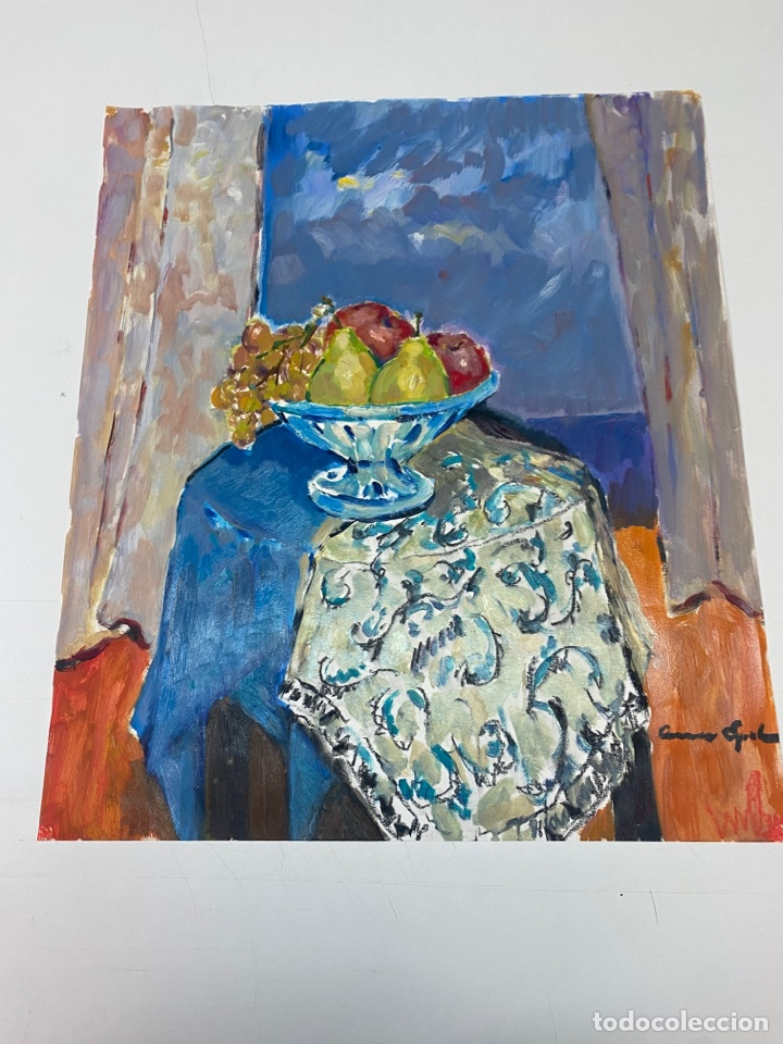 PINTURA AL ÓLEO SOBRE CARTULINA FIRMADA POR CARME ESPEL (Arte - Pintura - Pintura al Óleo Contemporánea )
