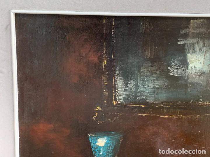 Arte: OLEO LIENZO BODEGON UVAS BOTELLAS CERAMICA AÑOS 50 60 FIRMA MARCEL DUVAL ESCUELA FRANCESA 87X104CMS - Foto 9 - 260758785
