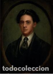 RETRATO DE UN JOVEN - ÓLEO SOBRE LIENZO S.XIX - ESCUELA INGLESA (Arte - Pintura - Pintura al Óleo Moderna siglo XIX)
