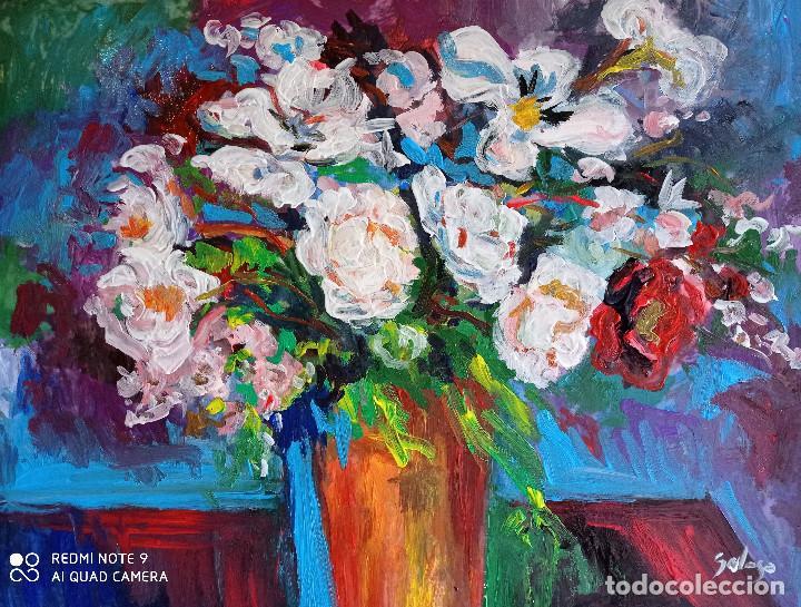 BODEGON DE FLORES.PINTURA SOBRE TELA (Arte - Pintura - Pintura al Óleo Contemporánea )