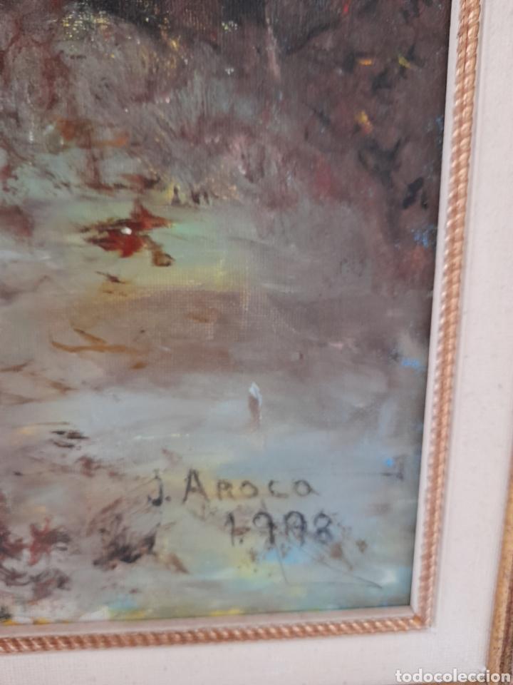 Arte: Oleo sobre lienzo firmado J.Aroca ,1998 - Foto 2 - 260829610