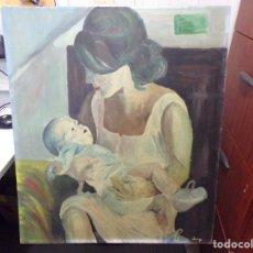 Arte: ANTIGUO OLEO SOBRE TABLA FIRMADO PARECE DOMENECH. Lote 260871915