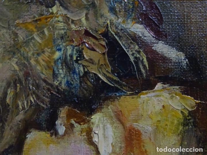 Arte: EXCELENTE ÓLEO EN TELA DE ROSA MARIA PUJOL AVELLANA (BCN 1945). MATERNIDAD 1986. - Foto 13 - 261139810