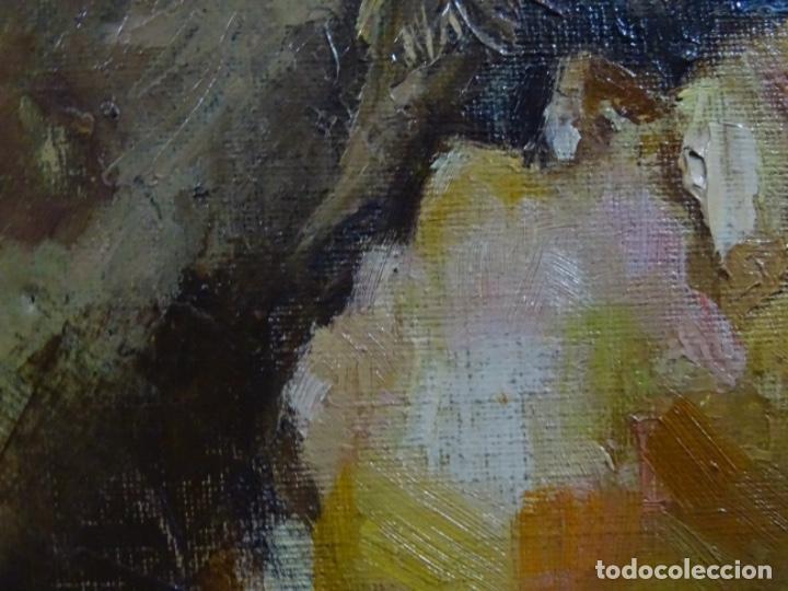 Arte: EXCELENTE ÓLEO EN TELA DE ROSA MARIA PUJOL AVELLANA (BCN 1945). MATERNIDAD 1986. - Foto 14 - 261139810