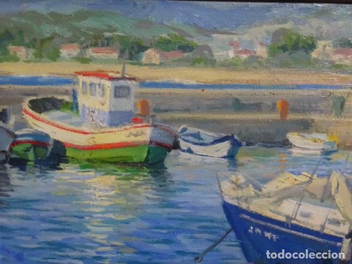 Arte: ÓLEO SOBRE TELA FIRMADO VILLAMIL. BUEN TRAZO Y GRAN COLORIDO. ESCUELA CATALANA. - Foto 4 - 261141285