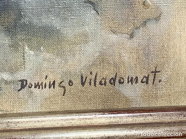 Arte: OLEO LIENZO FIRMA DOMINGO VILADOMAT BODEGON PANES PAPEL ARRUGADO CANTARO AÑOS 70 80 91X77CMS - Foto 2 - 261155500