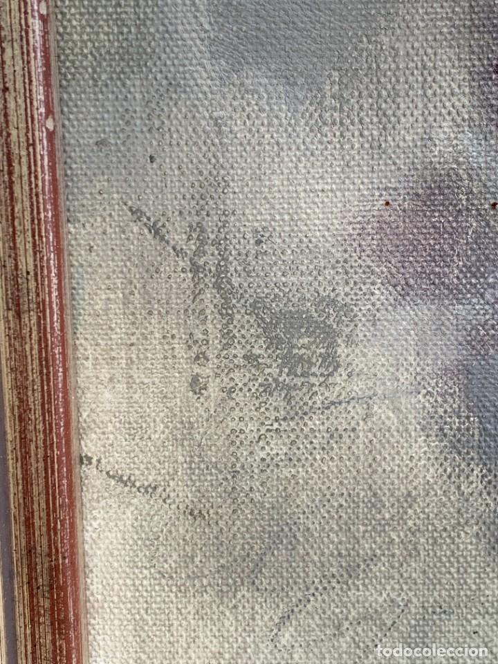 Arte: OLEO LIENZO FIRMA DOMINGO VILADOMAT BODEGON PANES PAPEL ARRUGADO CANTARO AÑOS 70 80 91X77CMS - Foto 12 - 261155500
