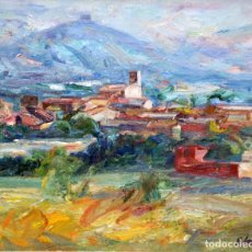Arte: BENET SARSANEDAS (RUPIT, BARCELONA, 1942) OLEO SOBRE TELA. GUALTA (GERONA). Lote 261216860