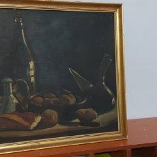 Arte: CUADRO OLEO BODEGON DE ANTONIO SERRANO CABALLO DE 1955. Lote 261252505