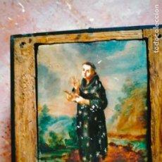 Arte: DÍPTICO SIGLO XVIII COLONIAL. ÓLEO SOBRE PLACA DE MARFIL PINTADO POR AMBAS CARAS. Lote 261282520