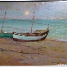 Arte: ÓLEO EN TABLEX DE JOAQUIM TERRUELLA MATILLA 1921. INFLUENCIA DE SU MAESTRO SANTIAGO RUSIÑOL.. Lote 261289530