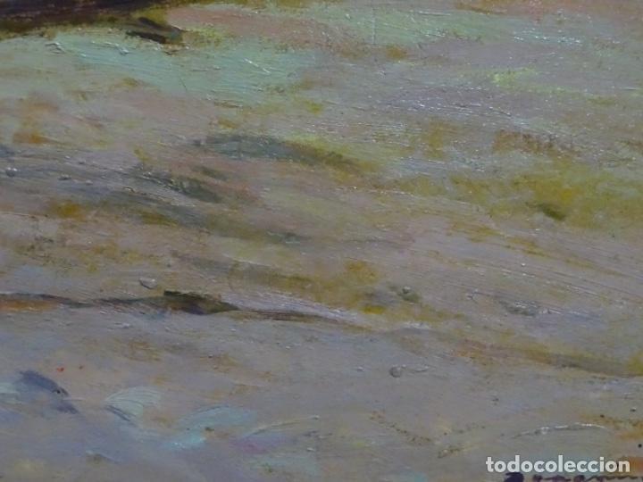 Arte: ÓLEO EN TABLEX DE JOAQUIM TERRUELLA MATILLA 1921. INFLUENCIA DE SU MAESTRO SANTIAGO RUSIÑOL. - Foto 5 - 261289530