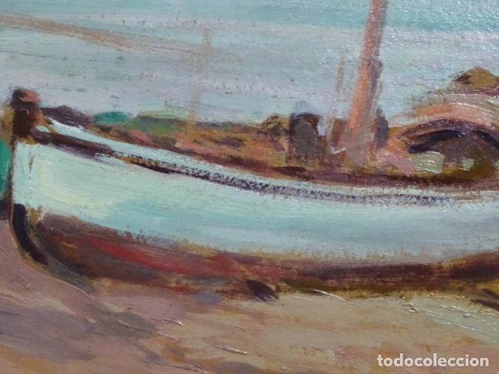 Arte: ÓLEO EN TABLEX DE JOAQUIM TERRUELLA MATILLA 1921. INFLUENCIA DE SU MAESTRO SANTIAGO RUSIÑOL. - Foto 7 - 261289530