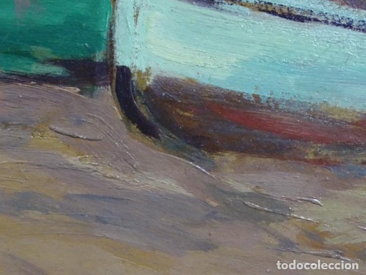 Arte: ÓLEO EN TABLEX DE JOAQUIM TERRUELLA MATILLA 1921. INFLUENCIA DE SU MAESTRO SANTIAGO RUSIÑOL. - Foto 10 - 261289530
