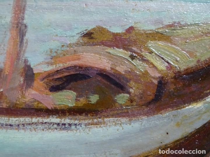 Arte: ÓLEO EN TABLEX DE JOAQUIM TERRUELLA MATILLA 1921. INFLUENCIA DE SU MAESTRO SANTIAGO RUSIÑOL. - Foto 11 - 261289530