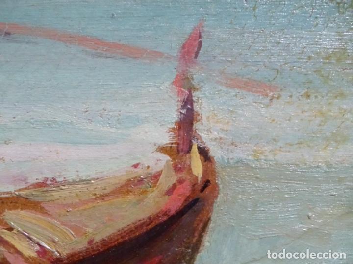 Arte: ÓLEO EN TABLEX DE JOAQUIM TERRUELLA MATILLA 1921. INFLUENCIA DE SU MAESTRO SANTIAGO RUSIÑOL. - Foto 12 - 261289530