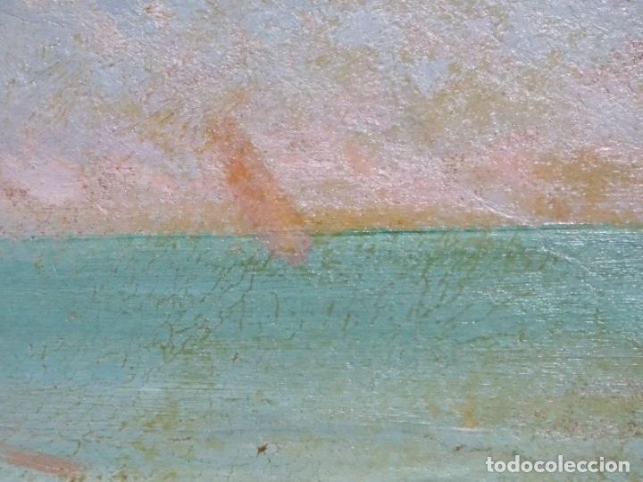 Arte: ÓLEO EN TABLEX DE JOAQUIM TERRUELLA MATILLA 1921. INFLUENCIA DE SU MAESTRO SANTIAGO RUSIÑOL. - Foto 13 - 261289530