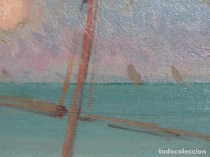 Arte: ÓLEO EN TABLEX DE JOAQUIM TERRUELLA MATILLA 1921. INFLUENCIA DE SU MAESTRO SANTIAGO RUSIÑOL. - Foto 14 - 261289530