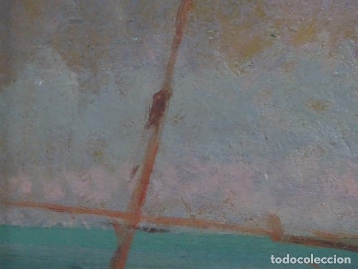 Arte: ÓLEO EN TABLEX DE JOAQUIM TERRUELLA MATILLA 1921. INFLUENCIA DE SU MAESTRO SANTIAGO RUSIÑOL. - Foto 16 - 261289530