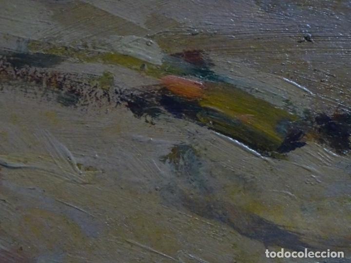 Arte: ÓLEO EN TABLEX DE JOAQUIM TERRUELLA MATILLA 1921. INFLUENCIA DE SU MAESTRO SANTIAGO RUSIÑOL. - Foto 17 - 261289530