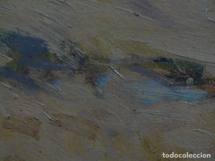 Arte: ÓLEO EN TABLEX DE JOAQUIM TERRUELLA MATILLA 1921. INFLUENCIA DE SU MAESTRO SANTIAGO RUSIÑOL. - Foto 18 - 261289530