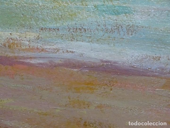 Arte: ÓLEO EN TABLEX DE JOAQUIM TERRUELLA MATILLA 1921. INFLUENCIA DE SU MAESTRO SANTIAGO RUSIÑOL. - Foto 19 - 261289530