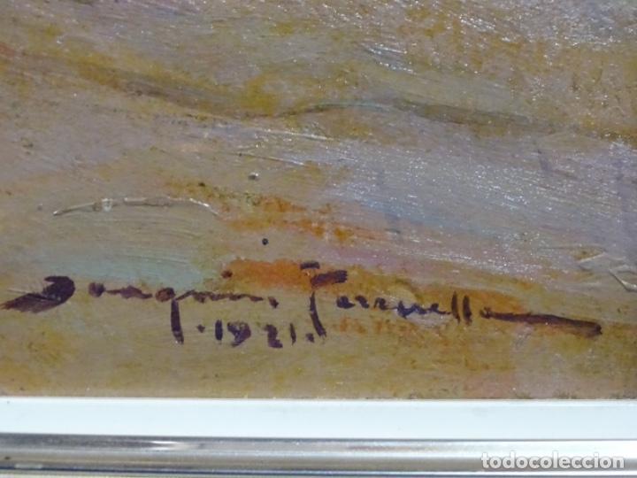 Arte: ÓLEO EN TABLEX DE JOAQUIM TERRUELLA MATILLA 1921. INFLUENCIA DE SU MAESTRO SANTIAGO RUSIÑOL. - Foto 20 - 261289530