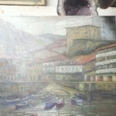 Arte: PUERTO VASCO. FIRMADO. Lote 261297000