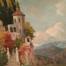 """Arte: ÓLEO SOBRE LIENZO """"PAISAJE"""", FIRMADO F. ZARAGOZA. 1934. PARA ENMARCAR. VER FOTOS Y MEDIDAS.. Lote 261322335"""