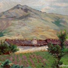Arte: NICOLAU RAURICH I PETRE (BARCELONA, 1871-1945) OLEO SOBRE TABLA. PAISAJE. Lote 261323765