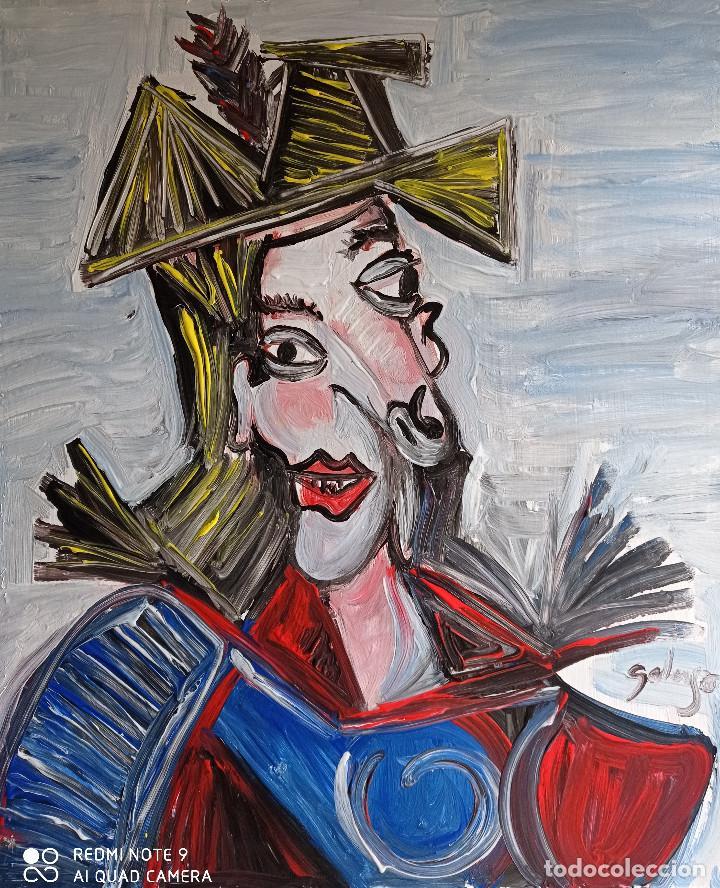 PERSONAJE PICASIANO ,PINTURA SOBRE TELA (Arte - Pintura - Pintura al Óleo Contemporánea )