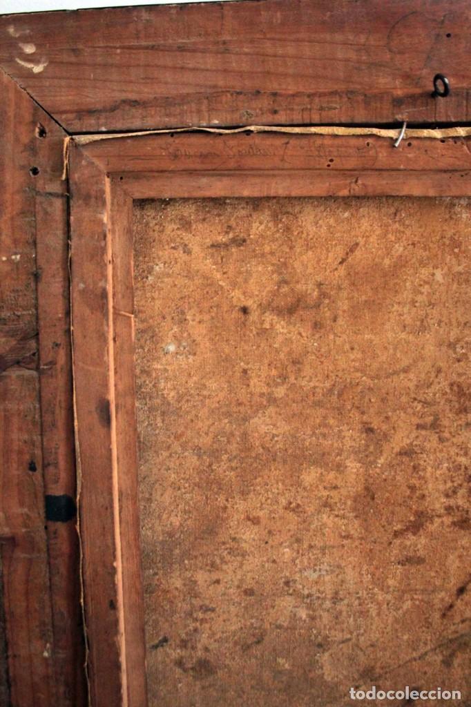 Arte: Pareja de ángeles, oleo sobre lienzo. s.XVII.XVIII, posible Luca Giordano o circulo. Para estudiar. - Foto 11 - 261819055