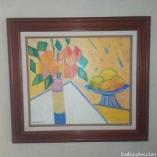 Arte: ÓLEO SOBRE MADERA ORIGINAL DE SALUT CAROL ( PALAFRUGELL 1937) FIRMADO Y EMMARCADO (75*68CM). Lote 254741065