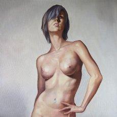 Art: ALEXIS DIAZ ÓLEO SOBRE LIENZO ARTE PINTURA CLÁSICA REALISMO. Lote 261924085