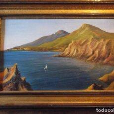 Arte: CUADRO OLEO ENMARCADO ANTIGUO FIRMADO 1980 DE 44 X 32 CM. Lote 262031890