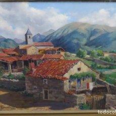 Arte: ÓLEO SOBRE TELA FIRMADO BOADA 1953. PUEBLO DEL PIRINEO. ESCUELA CATALANA.. Lote 262117880