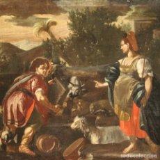 Arte: RACHEL Y JACOB AL POZO, PINTURA DEL SIGLO XVIII. Lote 262205065