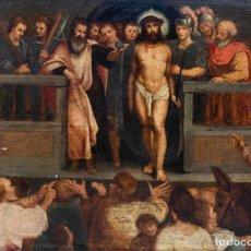Arte: LA BURLA DE CRISTO. ÓLEO SOBRE TABLA, SIGLO XVI-XVII. Lote 262269835