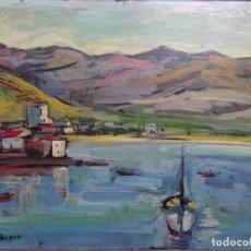 Arte: ÓLEO SOBRE TELA DE EMILI BOSCH ROGER (BCN 1894-1980). GRAN COLORIDO.. Lote 262323765