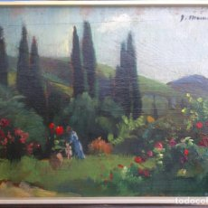 Arte: JOAQUIM MOMBRÚ I FERRER - JARDÍN CON FIGURAS-. Lote 262388500