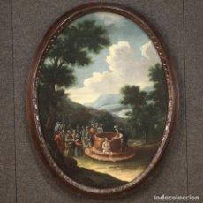 "Arte: ANTIGUA PINTURA OVAL DEL SIGLO XVIII ""JOSÉ AL POZO"". Lote 262412075"