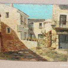 Arte: FIRMADO J. GARRIGA. OLEO SOBRE TABLA. PAISAJE RURAL. Lote 262549835