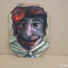 """Arte: JOSEP ALCALA VARGAS. OLEO SOBRE CARTON. TITULADO """"EL BURLON"""". Lote 262554295"""