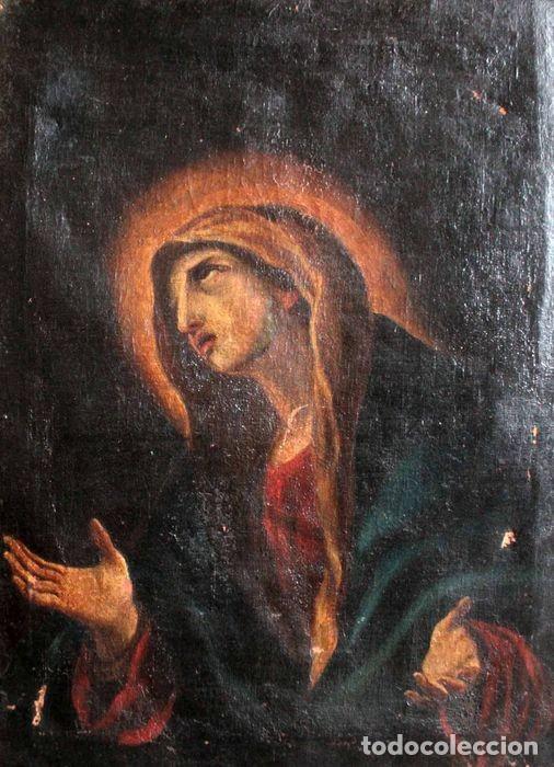 ESCUELA ESPAÑOLA DEL S.XVIII - VIRGEN EN ORACIÓN. OLEO/LIENZO 62X47CM(ENMARCADO) (Arte - Pintura - Pintura al Óleo Antigua siglo XVIII)