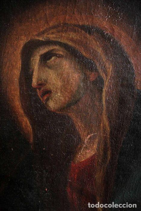 Arte: Escuela Española del s.XVIII - Virgen en oración. Oleo/lienzo 62x47cm(enmarcado) - Foto 3 - 262561485
