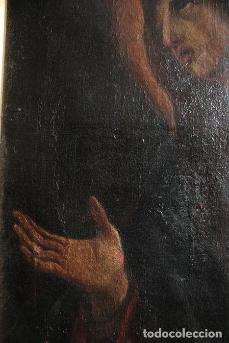 Arte: Escuela Española del s.XVIII - Virgen en oración. Oleo/lienzo 62x47cm(enmarcado) - Foto 5 - 262561485
