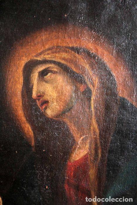 Arte: Escuela Española del s.XVIII - Virgen en oración. Oleo/lienzo 62x47cm(enmarcado) - Foto 6 - 262561485