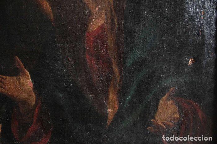 Arte: Escuela Española del s.XVIII - Virgen en oración. Oleo/lienzo 62x47cm(enmarcado) - Foto 8 - 262561485